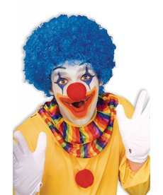 Adult Blue Clown Afro Wig