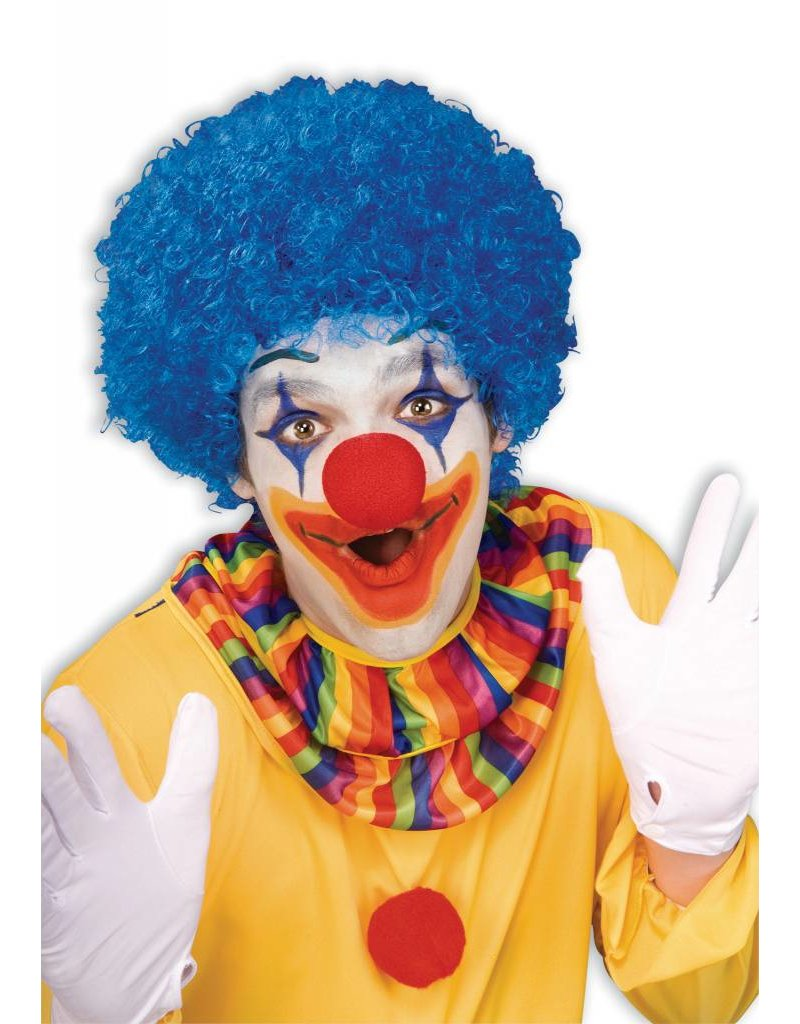 Adult Unisex Clown Afro Wig: Blue