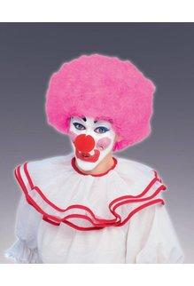 Adult Unisex Clown Afro Wig: Light Pink