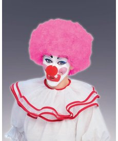 Adult Light Pink Clown Afro Wig