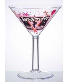 "Jumbo Martini Glass: ""Bachelorette"""
