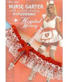 Nurse Garter with Hypodermic Needle