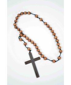 Monk Beads with Wooden Cross
