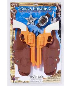 Double Holster Gun Set with Badge