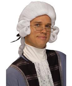 Men's Colonial Man Wig: White
