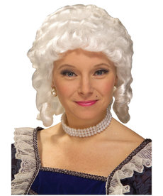 Adult White Colonial Woman Wig