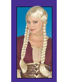 Adult Blonde Braided Renaissance Wig