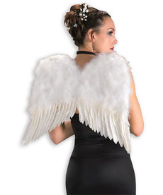 """22"""" Feather Angel Wing: White"""