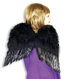 """Feather Angel Wings 22"""" - Black"""