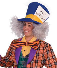 Adult White Mad Hatter Wig
