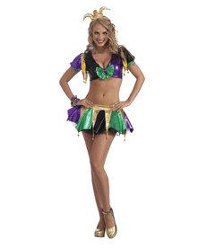 Women's Sexy Mardi Gras Jester Costume