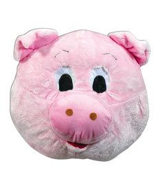 Plush Animal Mascot Head: Pig