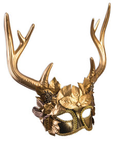 Mythical Creatures: Golden Faun Masquerade Mask