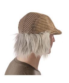 Old Man Checkered Hat w/ Hair