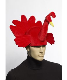 Plush Turkey Hat: Red