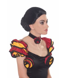 Adult Black Spanish Dancer Wig