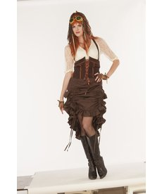 Adult Steampunk Saloon Skirt