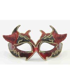 Devil Venetian Mask w/ Horns