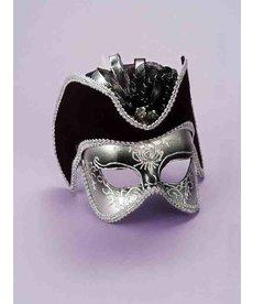 Pirate Venetian Half Mask