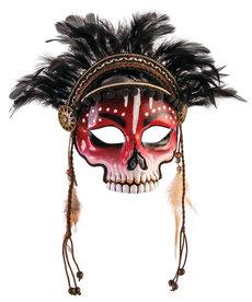 Voodoo Half Mask w/ Eyeglasses Arms