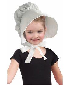 Kids' White Bonnet