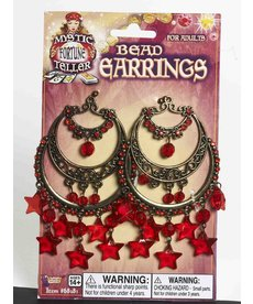 Fortune Teller Earrings with Red Stars