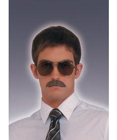 Grey Gentleman's Mustache