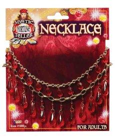 Red Gem Fortune Teller Necklace
