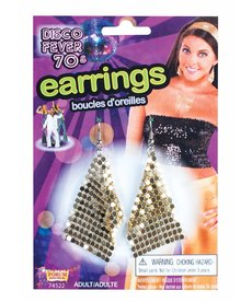 Disco Drop Earrings - Gold