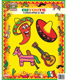 Cinco De Mayo  Cut outs (4PC.)