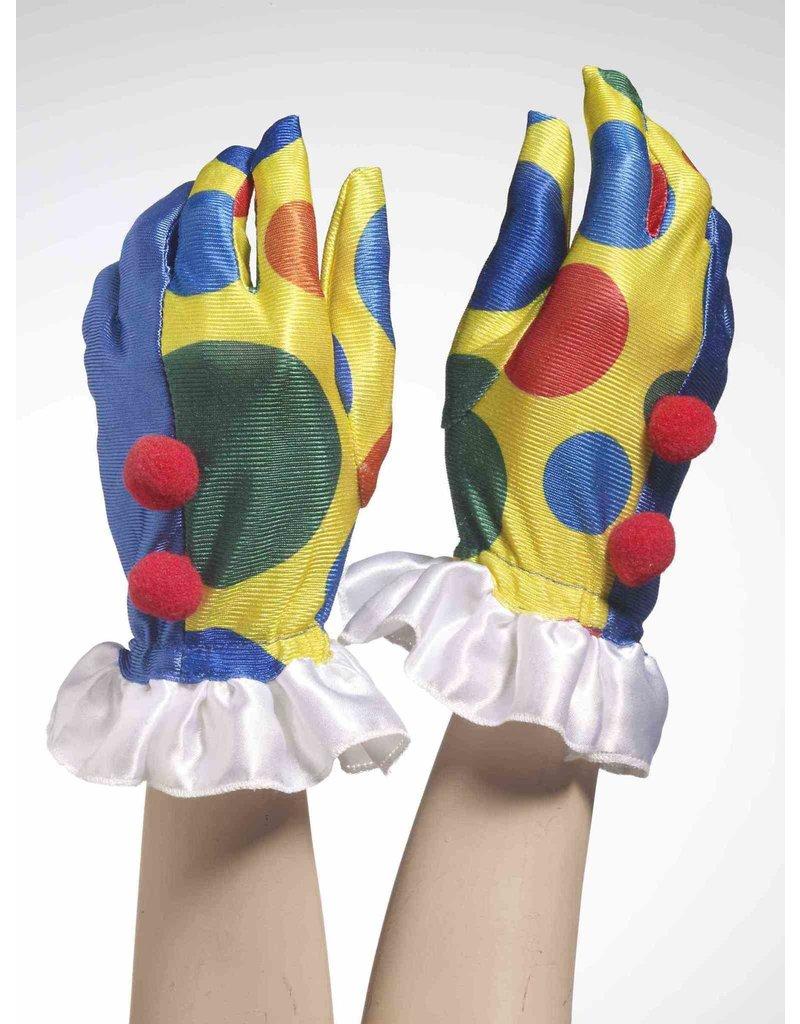 Clown Gloves with Pom Poms