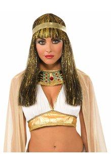 Adult Golden Cleopatra Tinsel Wig
