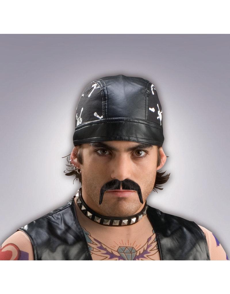 Black Biker Moustache