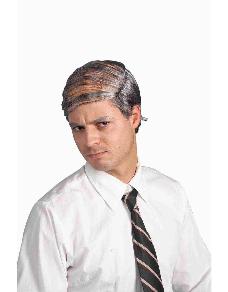 Adult Gray Bald Man Comb Over Wig