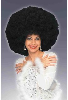 Adult Black 70's Giant Afro Wig