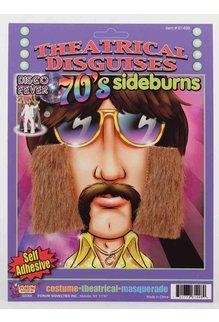 70's Sideburns - Brown
