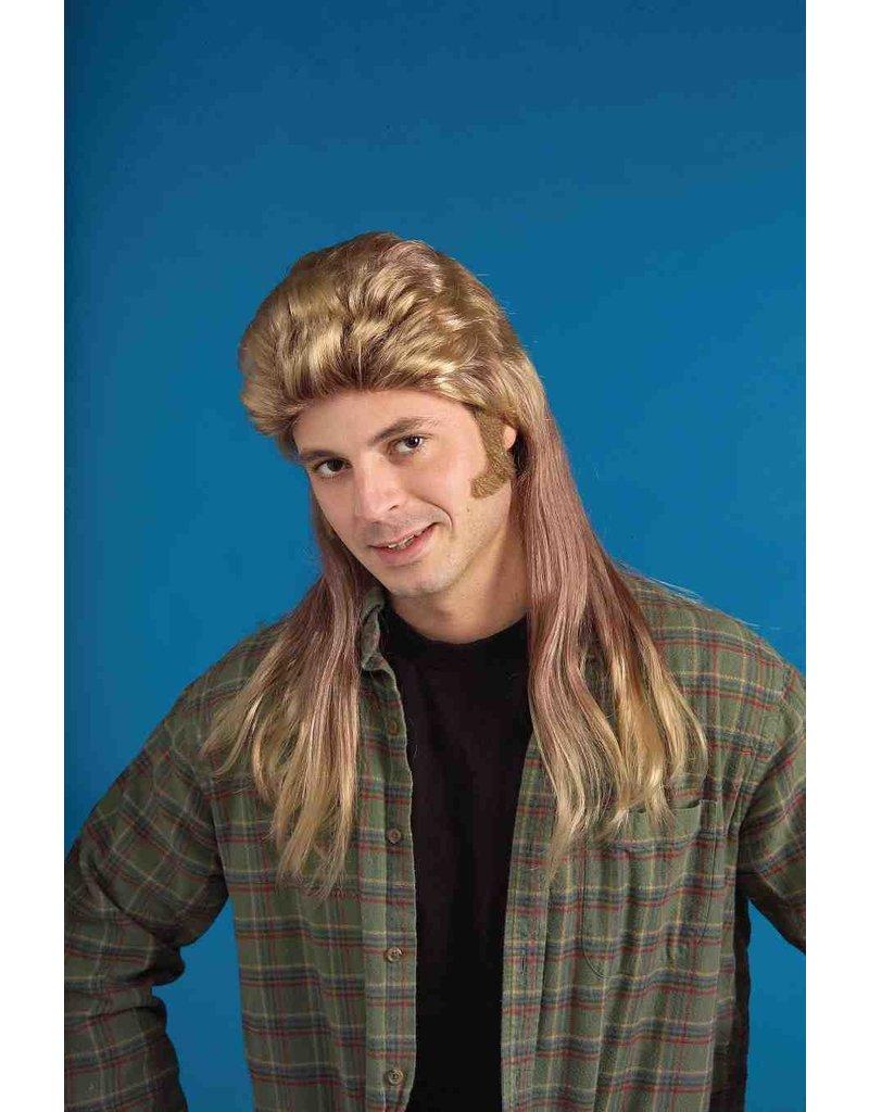 Adult Blonde 80's Long Mullet Wig