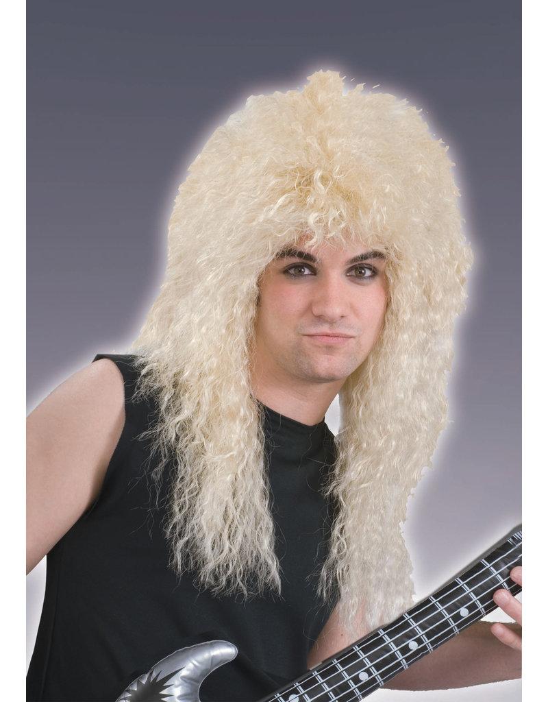 Adult Blonde 80's Rockstar Wig