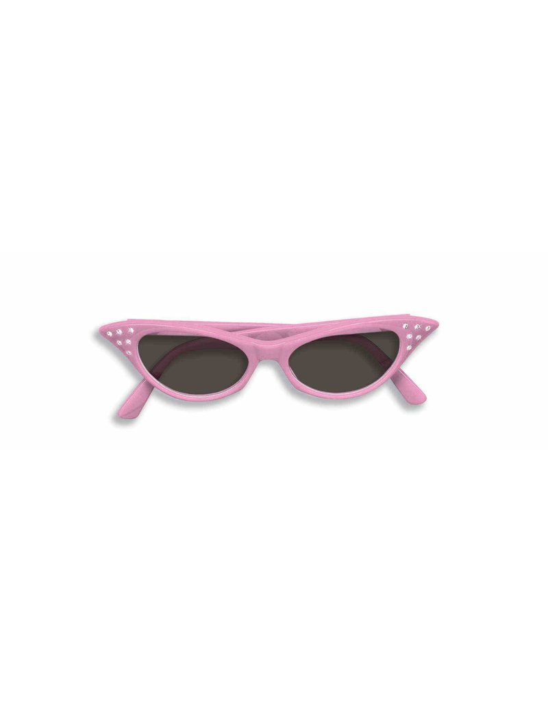 50's Rhinestone Tinted Glasses: Pink