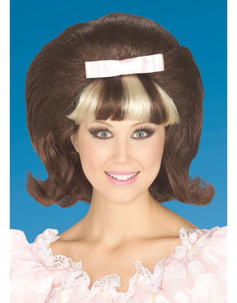 Adult Brown/Blonde 60's Princess Wig