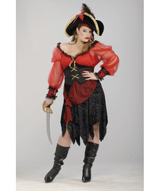 Adult Plus Size Buccaneer Beauty Costume