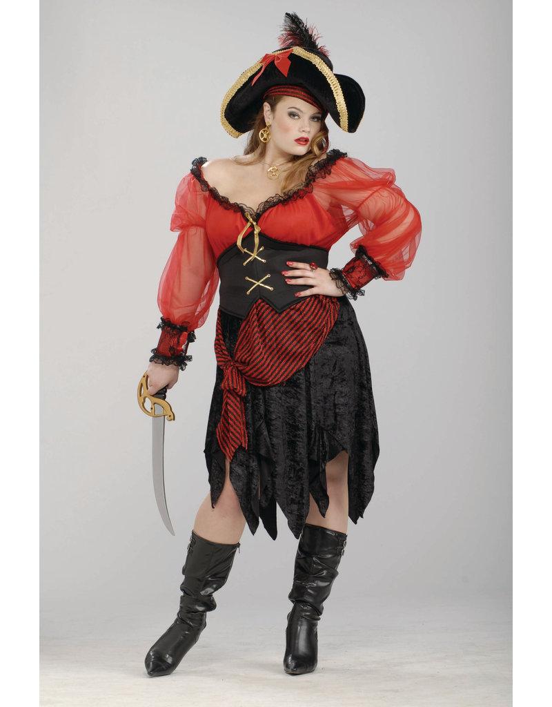 Adult Plus Size Buccaneer Beauty Costume