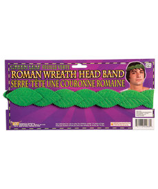Roman Green Leaf Wreath Head Band