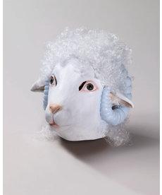 Deluxe Latex Animal Mask: Sheep