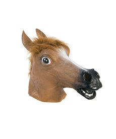 Deluxe Latex Animal Mask: Brown Horse