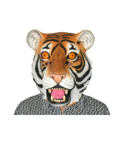 Deluxe Latex Animal Mask: Tiger