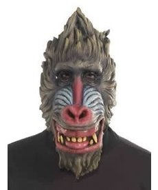 Dlx. Latex Animal Mask - Baboon