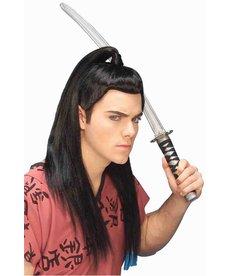 Adult Black Asian Warrior Wig
