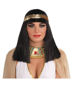 Adult Black Cleopatra Wig w/ Headband