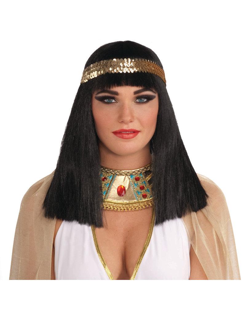 Adult Black Cleopatra Wig w/ Headband